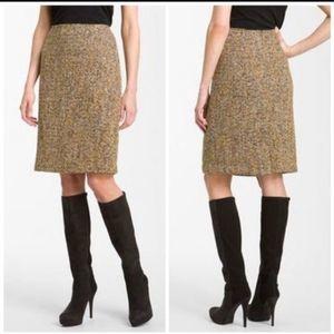 Nic + Zoe Women Brown Tweed Pencil Skirt A-Line